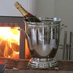Chrom Champanerkühler Sektkühler Eis Behälter Bar