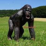 Gorilla Dekofigur Aufstellfigur Affe Afrika 130cm