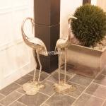 Flamingos Set Abstrakte Skulptur Alu Aluminium Deko Impressionen