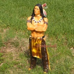 Häuptling Indianer Figur Dekorationsfigur