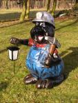 Maulwurf mit Laterne Gartenfigur Dekofigur Figur