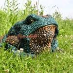 Frosch Kröte Bufonidae Dekofigur für Garten und Gartenteich