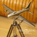 Nostalgie Flugzeug Propeller Stativ Objeckt Büro Aluminium Deko