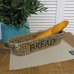 Rattan Brotkorb Baguettekorb Baguette Länglich Tisch Mission Style