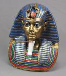 Pharaoh Tutanchamun Statue Farbe blau gold Deko