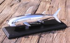 Designer Hai Figur Skulptur Alu Aluminium Deko