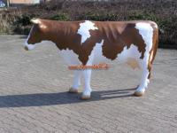 Riesen Kuh als Werbeaufsteller in braun weiß Lebensgroß Figur