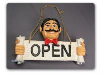Wendeschild Open - Closed Öffnungszeiten Schild