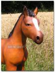 Fohlen Dekofigur Pferde Statue Pferd Figur lebensecht