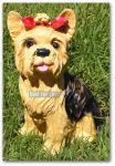 Yorkshire Terrier Dekofigur für Haus und Garten