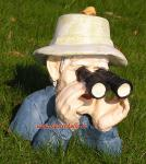 Opa Spanner Beobachter Figur Garten-Figur Deko