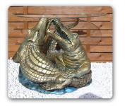 Krokodil Alligator Figur Wonzimmertisch Couchtisch