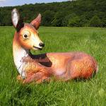 Reh Dekofigur Rot-Wild Statue Figur Rehbock