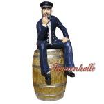 Kapitän aus Fass Figur Statue Skulptur Deko Maritim Dekoration