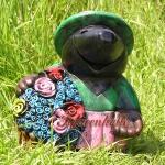 Maulwurf als Blumen Figur Dekofigur Gartenfigur