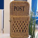 Rattan Wandkorb für Post und Briefe als Wandkorb in der Küche