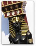 Ägyptische Wache als Dekofigur Lebensgroß