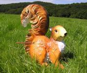 Eichhorn Eichhörnchen Dekofigur sitzend für Ihren Garten