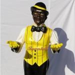 Black Boy Butler Dekofigur Aufstellfigur Figur