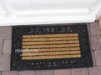 Kokos Fußmatte Fußabtreter Gummi Kokosfaser rechteckig Landhausstil Antik Shabby Chic Haustür