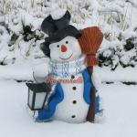 Schneemann Winterdekoration Figur Skulptur Deko