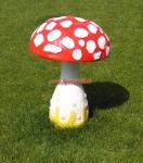 Fliegenpilz Gartenfigur Pilz Deko Figur