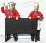 Dick & Doof Koch Figur Deko lebensgroße Köche