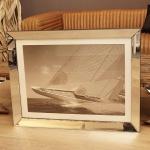 Maritimer Kunstdruck Sylt Segelschiff Spiegelrahmen
