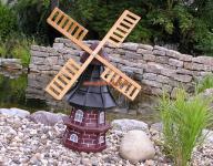 Windmühle Holländische Gartenfigur Garten-Deko