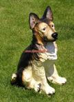 Deutscher Schäferhund Gartenfigur Dekofigur Figur