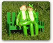 Frosch Frösche Deko-Figur Gartenfigur