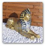Sphinx Ägyptische Figur Statue in Gold Optik Deko