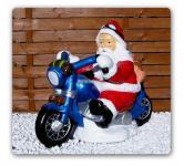 Weihnachtsmann Biker Dekofigur Motorrad Statue