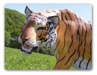 Tiger Dekofigur Lebensgroß Tiga Aufstellfigur
