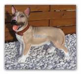 Pit Bull Hund Figur Statue Aufstellfigur Deko