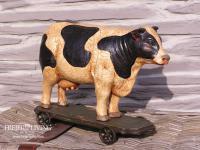Kuh Figur Statue Nostalgie antik Shabby Chic Landhaustil