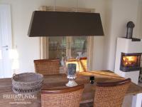 Lampenschirm für Deckenlampe in braun vireckig Esszimmer Leuchte