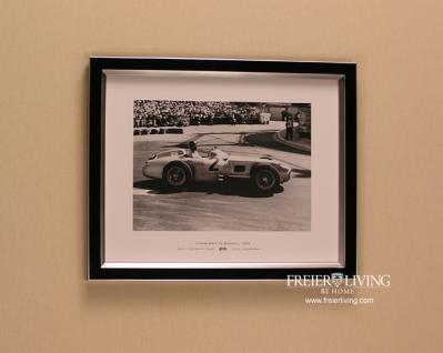 Monaco Wandbild Fotodruck Mercedes Benz Schwarz weiß 1955 Oldtimer Racing - Vorschau 1