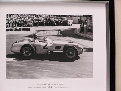 Monaco Wandbild Fotodruck Mercedes Benz Schwarz weiß 1955 Oldtimer Racing - Vorschau 2