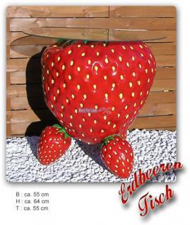 Erdbeere Werbefigur Tisch Werbung Dekoration Obst - Vorschau 2
