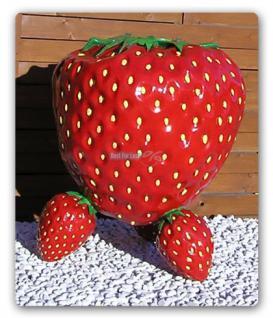 Erdbeere Werbefigur Tisch Werbung Dekoration Obst - Vorschau 3