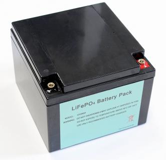 Leichtgewicht dank Lithium 12V / 26AH ( 40AH ) LiFePo4 - Akku inkl. 40A PCM +...