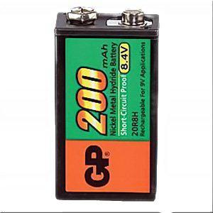 GP 9 Volt NiMH - Block Akku, Nennkapazität 200mAh 8, 4V