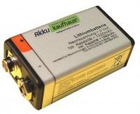 2 Stück 9V Blockeinwegbatterie 1200mAh Lithium sehr langer Dauerbetrieb