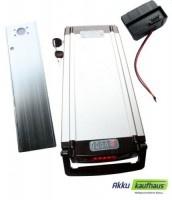 24V/12AH Lithiumakku im Qualitätsgehäuse für den Gepäckträger ( LiFe ) inkl. ...