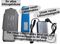 24V / 5AH Lithiumakku für Yamaha Kynast ( LiFe - LiFePo4 ) inkl. Einbau + Lad...
