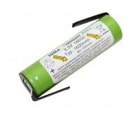 3 (3, 3)Volt 1, 6AH 18650 LiFePo4 H2OLE Akku mit Anschlußfahnen, Durchmesser äh...