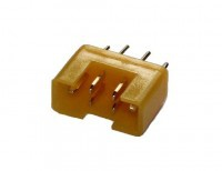 HSTR wie MPX -Buchse, verpolungssicher gelb