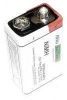 9 Volt / 300mAh wiederaufladbare Batterie, NiMH Blockakku H2Ole F22 / E-Block...