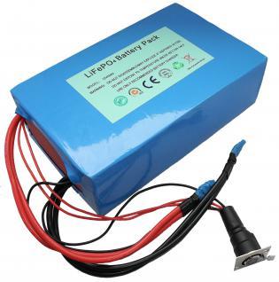 12V Komplettset: Leichtgewicht dank Lithium LiFePo4 - Akku inkl. 45A PCM + La...
